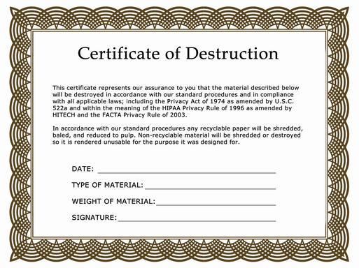 certificate of destruction pictures to pin on pinterest pinsdaddy