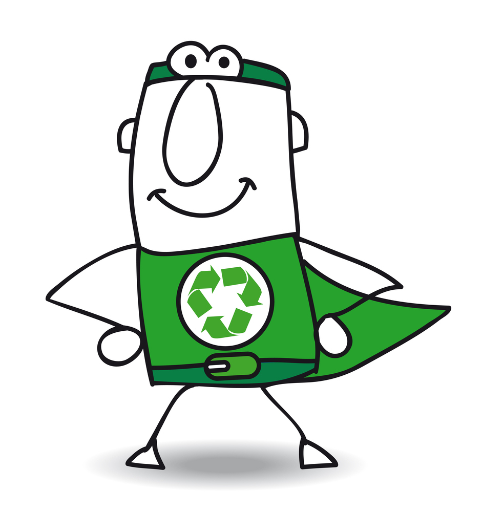 Superhero of recycling is coming back. The Superhero of recycle