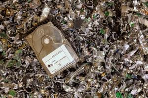 defending against data breach using hard drive shredding electronic media destruction