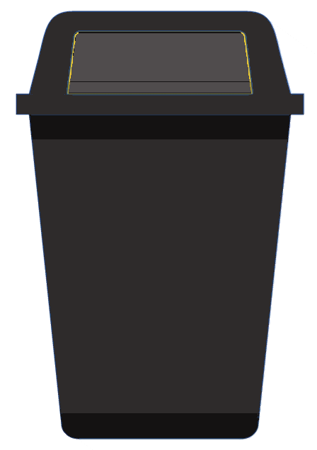 Medical Waste Black Container