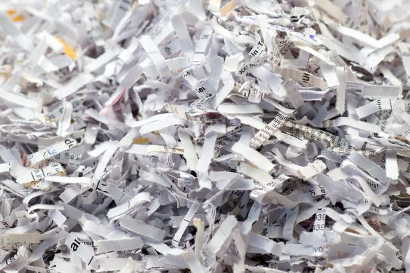 Paper Shredded with Cross Cut Shredding Technique