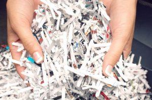 Handful of Shredded Paper