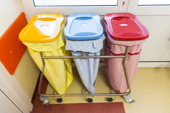 Properly sorted medical waste