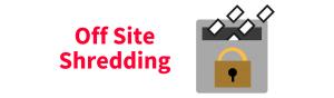 Off Site Shredding Icon