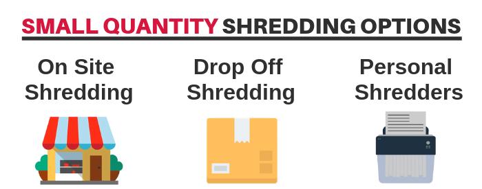 Small Quantity Shredding Service Options