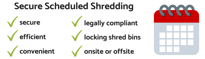 Scheduled Shredding Services are Secure and Convenient