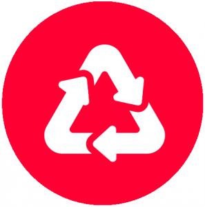 Environmentally friendly hard drive shredding