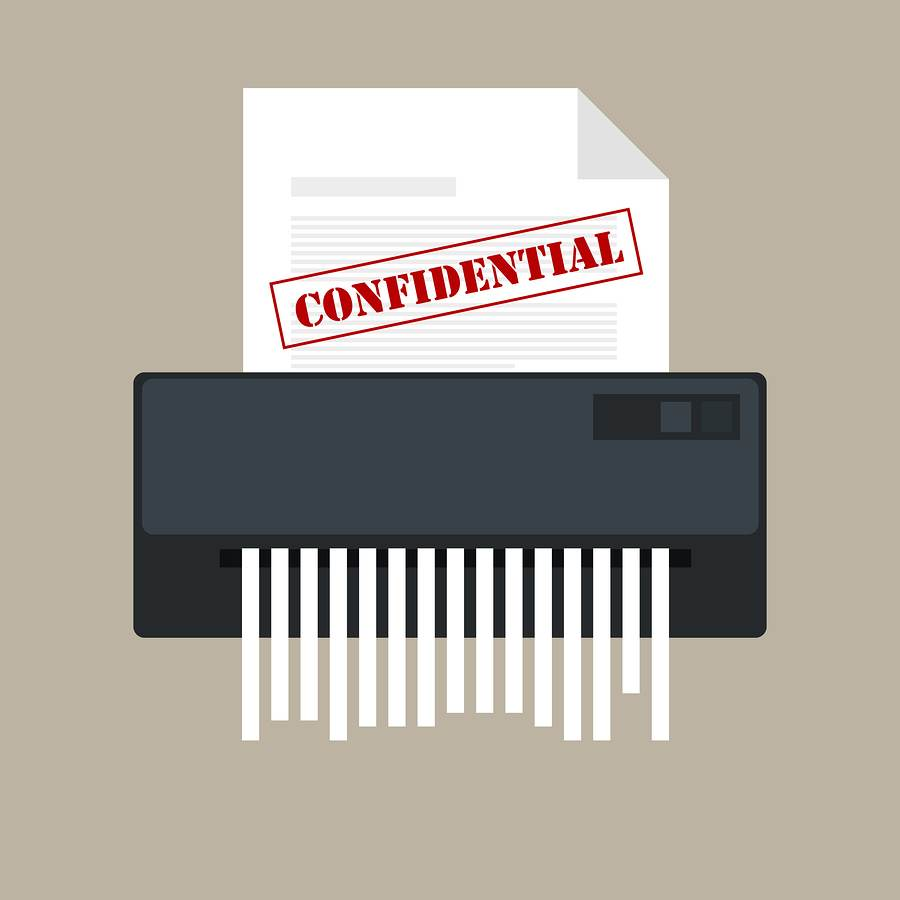 Shred Confidential Info