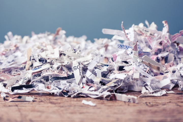 Safely Shredded Paper
