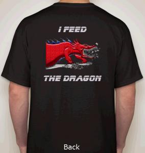 Assured Document Destruction big red dragon t-shirt i feed the dragon