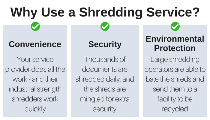Shredding services are convenient, secure, and environmentally friendly.