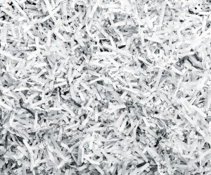 Background of shredded papers