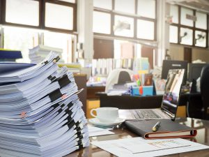 Keep all policies for documents means more paper in the office