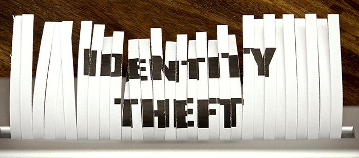 Identity theft on shredded paper