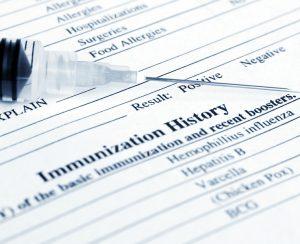 Immunization History Form