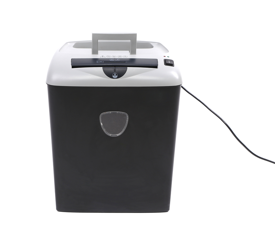 paper shredder isolated on a white background