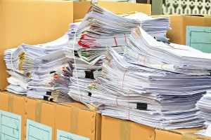 hard-copy documents how much you have for shredding services