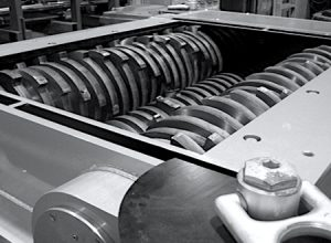 Using heavy-duty industrial shredders for hard drives