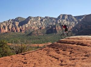 A Sedona Mountain Biker On Broken Arrow Trail