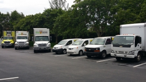 offsite and mobile shredding services trucks