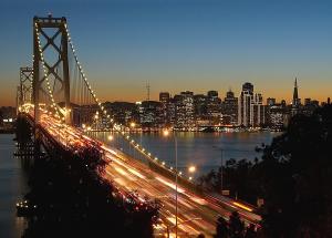 bay bridge san francisco horizon