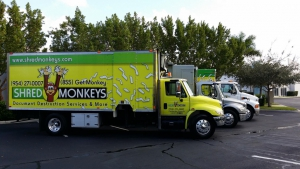 shred monkeys mobile shredding service shred truck fleet