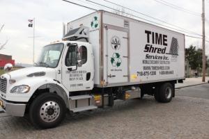 time shred services mobile shredding truck