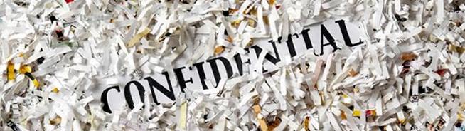 confidential shredded paper