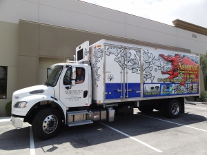 assured document destruction shredding truck big red dragon