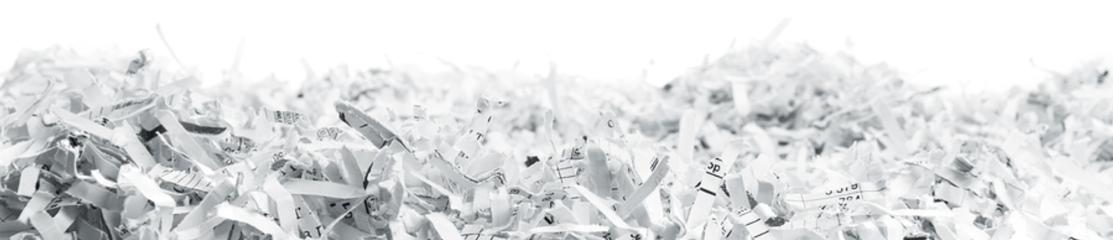 Shredded Paper Document Destruction