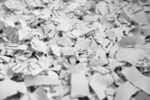 Papers and documents shredded