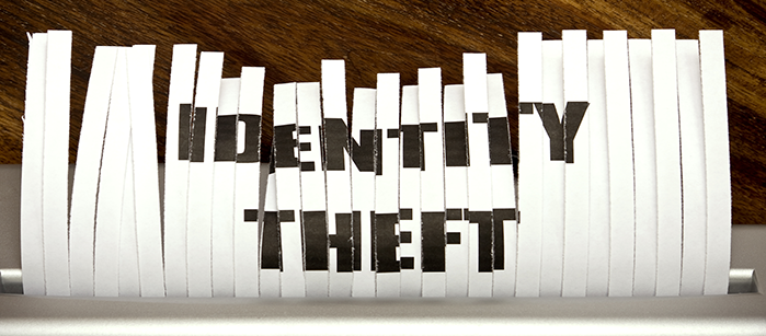 Identity theft on shredded paper