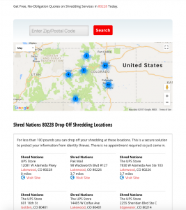 Selecting Drop Off Shredding Locations
